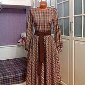 Одежда ручной работы. Ярмарка Мастеров - ручная работа Трикотажное платье миди Луиза. Handmade.