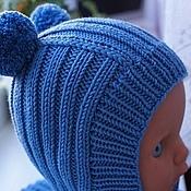 Работы для детей, ручной работы. Ярмарка Мастеров - ручная работа Шапочка-шлем для мальчика. Handmade.