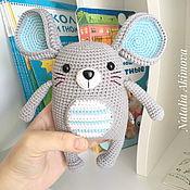 Knitting patterns handmade. Livemaster - original item Scheme: Mouse Ricky. Description of knitting. Handmade.