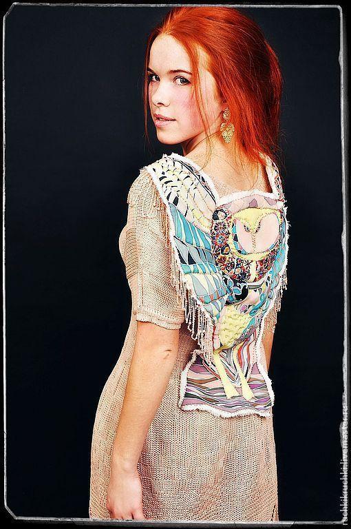 """Платья ручной работы. Ярмарка Мастеров - ручная работа. Купить Платье """"Совы не то, чем кажутся"""" спицами из мериноса ультрафайн ручной. Handmade."""