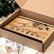 Блокноты ручной работы. Ярмарка Мастеров - ручная работа Блокнот из дерева и кожи. Handmade.