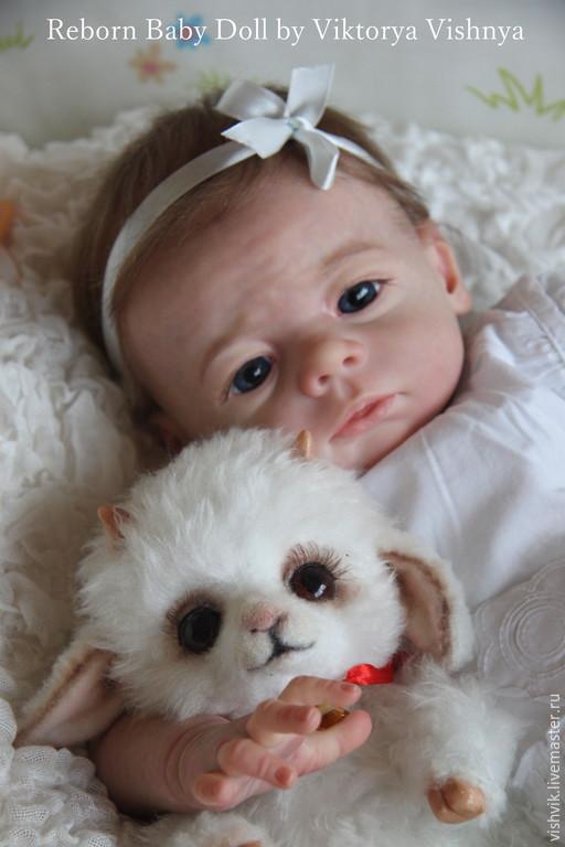 Куклы-младенцы и reborn ручной работы. Ярмарка Мастеров - ручная работа. Купить Карлотточка. Handmade. Розовый, подарок, волосы натуральные