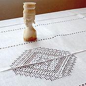 Для дома и интерьера handmade. Livemaster - original item Tablecloth hemstitch with diamonds. len. Embroidery. Handmade.