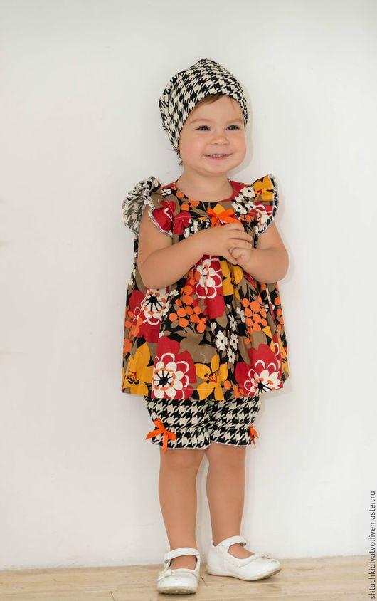 """Одежда для девочек, ручной работы. Ярмарка Мастеров - ручная работа. Купить Комплект """"Малышка"""". Handmade. Комбинированный, одежда для малышей"""