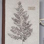 Канцелярские товары handmade. Livemaster - original item Album for a herbarium Sheet of the fern (A4, 30 Kraft sheets). Handmade.