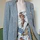 Пиджаки, жакеты ручной работы. Жакет серый твидовый в стиле casual с жилетом. Элина 'Элис' (elinasas). Ярмарка Мастеров. Жилет