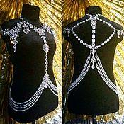 Свадебный салон ручной работы. Ярмарка Мастеров - ручная работа Колье портупея на платье. Handmade.