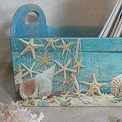 Для дома и интерьера ручной работы. Ярмарка Мастеров - ручная работа РЕЗЕРВ! Ящик для хранения Морской. Handmade.