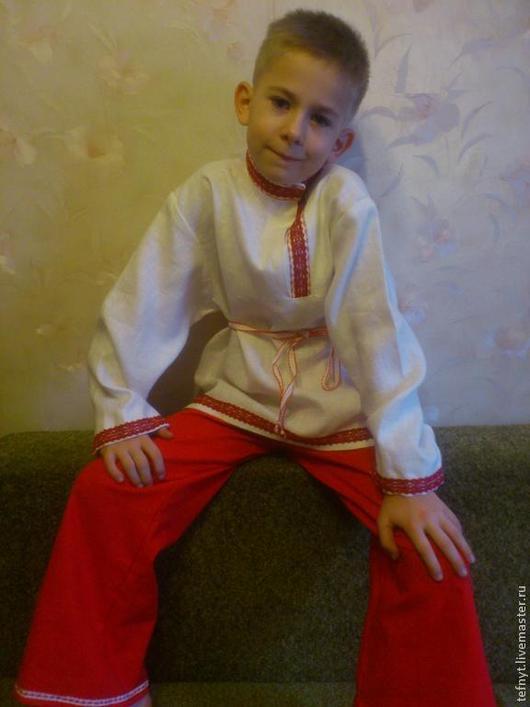 Детские карнавальные костюмы ручной работы. Ярмарка Мастеров - ручная работа. Купить Костюм на масленицу. Handmade. Белый, лён