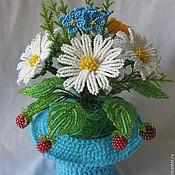 Цветы и флористика ручной работы. Ярмарка Мастеров - ручная работа Малиновый букет в шляпе. Handmade.