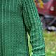 Для мужчин, ручной работы. Мужской пуловер из резинки с косами. Knitted Sea. Ярмарка Мастеров. Пуловер вязаный, свитер с косами