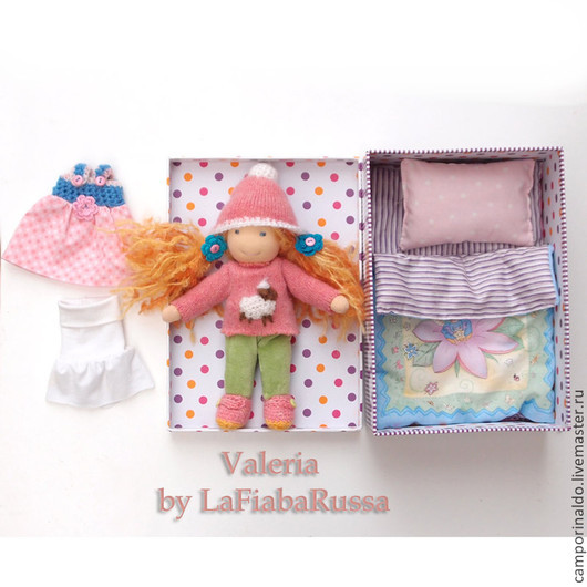 Вальдорфская игрушка ручной работы. Ярмарка Мастеров - ручная работа. Купить Валерия вальдорфская кукла с гардеробом. Handmade. Вальдорфская кукла