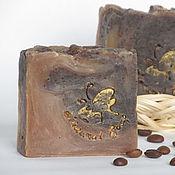 Косметика ручной работы. Ярмарка Мастеров - ручная работа Мыло-скраб Кофе с молоком, кофейное мыло, на молоке, коричневый. Handmade.