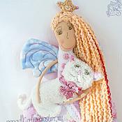 Куклы и игрушки ручной работы. Ярмарка Мастеров - ручная работа Розовая Принцесса, Белая Кошка. Handmade.