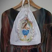 Одежда ручной работы. Ярмарка Мастеров - ручная работа Девушка-Весна и радуга. Мешочек для хранения нижнего белья. Handmade.