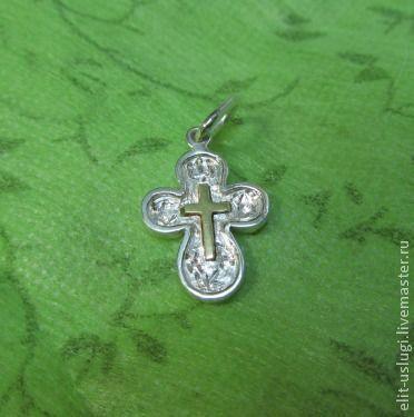 Кулоны, подвески ручной работы. Ярмарка Мастеров - ручная работа. Купить Крестик для младенца. Handmade. Крест, крестильный крест