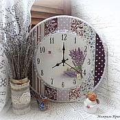 """Для дома и интерьера ручной работы. Ярмарка Мастеров - ручная работа часы большие 35 см """"Лаванда"""". Handmade."""