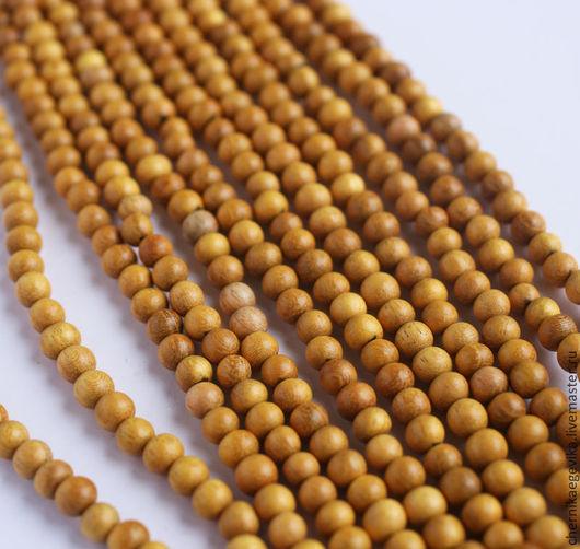 Для украшений ручной работы. Ярмарка Мастеров - ручная работа. Купить Бусины деревянные, жёлтое дерево Nangka, 6мм по 10шт.. Handmade.