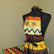 Для дома и интерьера ручной работы. Ярмарка Мастеров - ручная работа набор  текстильный кухонный   фартук и ланчматы. Handmade.