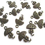 handmade. Livemaster - original item Umbrella pendant bronze metal accessories for jewelry. Handmade.