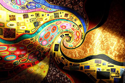 Густав Климт. Поцелуй. Абстракция. Картины. Купить картину. Фото картины. Красивые картины. Магазин картин. Интерьер. Декор