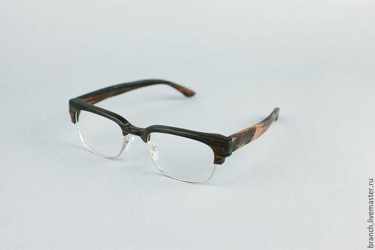 Очки ручной работы. Ярмарка Мастеров - ручная работа. Купить деревянные очки branch B-1402. Handmade. Черный
