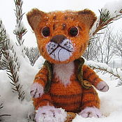 Куклы и игрушки handmade. Livemaster - original item Teddy toy animal: soft toy kitten tiger, crochet tiger. Handmade.