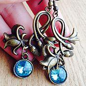Украшения handmade. Livemaster - original item Bronze clip-on earrings/ earrings !Flowers!. Handmade.