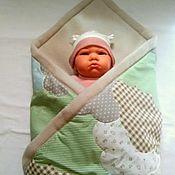 Конверты на выписку ручной работы. Ярмарка Мастеров - ручная работа Плед-конверт для новорожденного. Handmade.