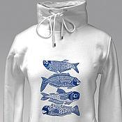 Одежда handmade. Livemaster - original item Big Fish Hoodie. Handmade.