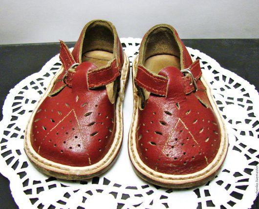 Винтажная обувь. Ярмарка Мастеров - ручная работа. Купить Сандалики детские, кожаные, времен СССР  (винтаж). Handmade. Коричневый, для фотосессий