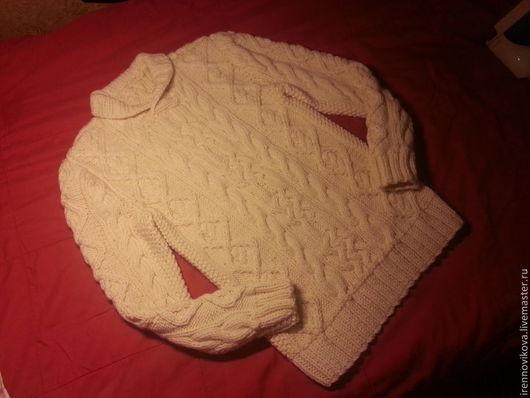 """Кофты и свитера ручной работы. Ярмарка Мастеров - ручная работа. Купить Свитер """"Уютный"""". Handmade. Белый, свитер теплый, подарок"""