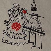 Картины и панно ручной работы. Ярмарка Мастеров - ручная работа Молодожены. Handmade.