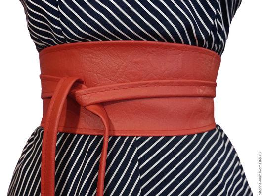 Пояса, ремни ручной работы. Ярмарка Мастеров - ручная работа. Купить Пояс оби красный в ассортименте. Handmade. Однотонный