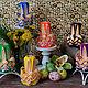 Резная свеча ручной работы Весенний фонарик. (handmade). Резные свечи создают приятную и уютную обстановку. Прекрасно вписываются в интерьер и отлично дополняют его своим изящным рисунком.