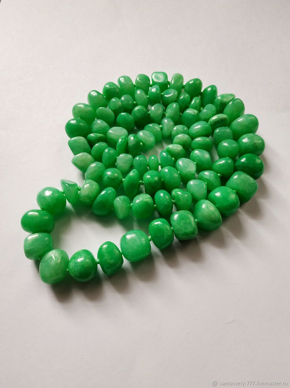 Necklaces & Beads handmade. Livemaster - handmade. Buy Beautiful decoration ' green aventurine'.Beads, necklace, decoration