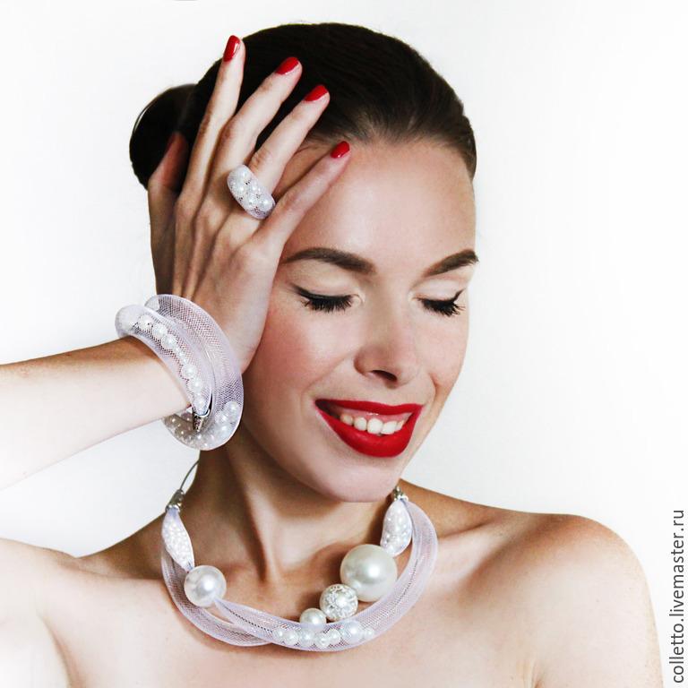 Necklace in yuvelirnoi the mantle 'Lady light', Necklace, Ekaterinburg,  Фото №1