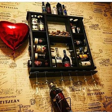 Для дома и интерьера ручной работы. Ярмарка Мастеров - ручная работа Полка для вина. Handmade.