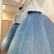 Юбки ручной работы. Ярмарка Мастеров - ручная работа Юбка из фатина цвета джинсы. Handmade.
