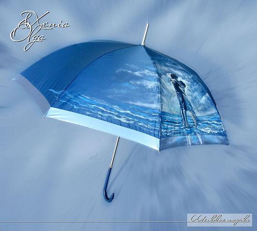 Зонты ручной работы. Ярмарка Мастеров - ручная работа. Купить Зонты с рисунками людей ручная роспись на заказ по фото. Handmade.