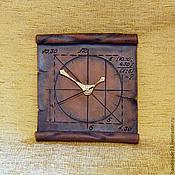 """Для дома и интерьера ручной работы. Ярмарка Мастеров - ручная работа часы """"свиток"""". Handmade."""