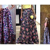 Одежда ручной работы. Ярмарка Мастеров - ручная работа Юбка джинсовая цветная или с принтом. Handmade.