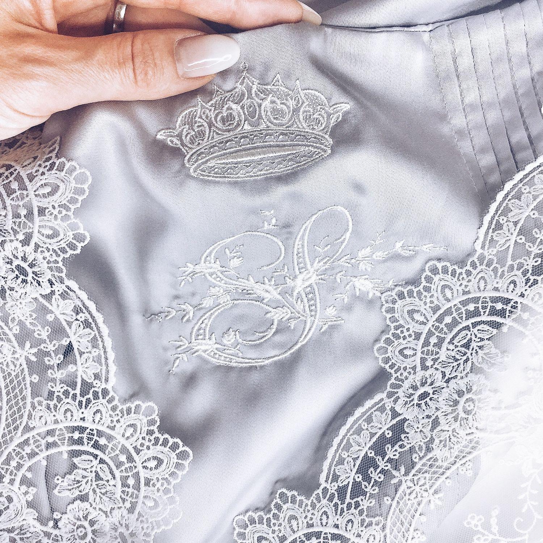 Свадебное постельное белье с кружевом и инициалами, Подарки, Самара, Фото №1