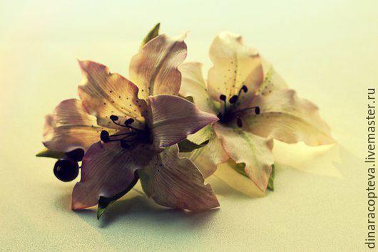 Диадемы, обручи ручной работы. Ярмарка Мастеров - ручная работа. Купить Нежные лилии. Handmade. Фоамиран, ручная работа