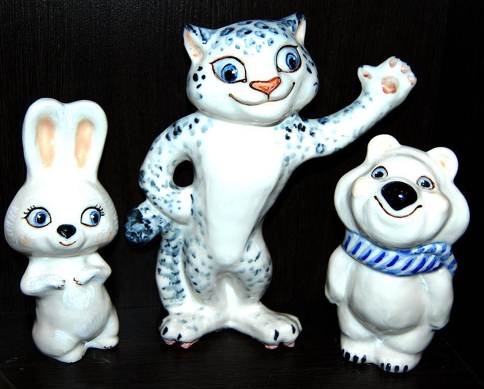 Hare,Snow leopard and polar bear, Figurines, Moscow,  Фото №1