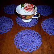 Для дома и интерьера handmade. Livemaster - original item A set of coasters under a glass.( Crochet). Handmade.