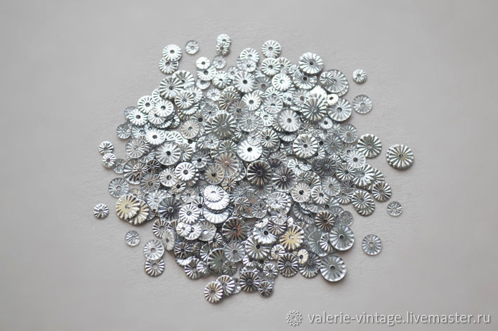 Mix of sequins France fluted 3, 4, 5 mm, Sequins, Moscow,  Фото №1