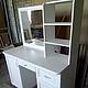 мебель в ванную комнату из дерева для ванной столик с зеркалом белый
