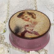 """Для дома и интерьера ручной работы. Ярмарка Мастеров - ручная работа шкатулка """"Девушка с сиреневыми цветами"""". Handmade."""