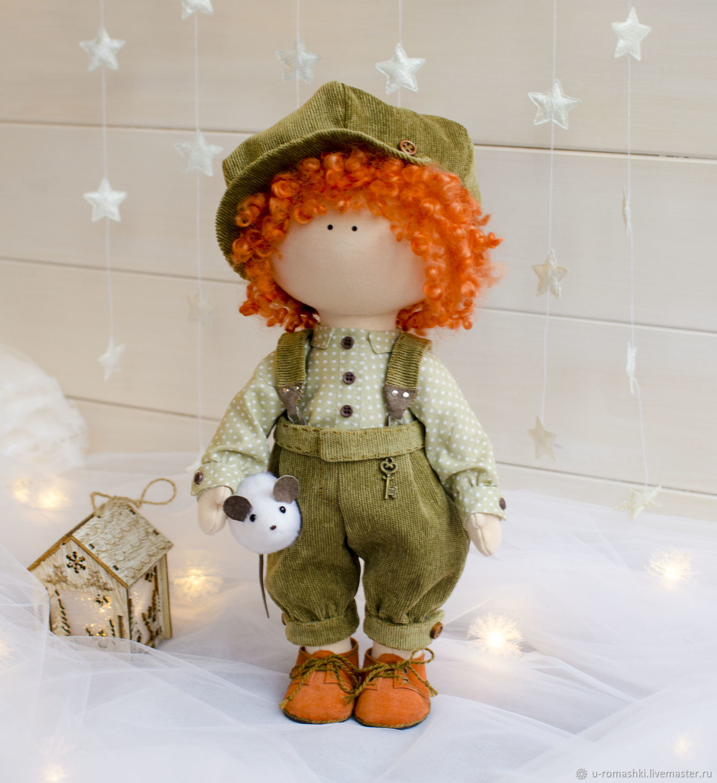 Антошка интерьерная кукла мальчик, Тыквоголовка, Санкт-Петербург,  Фото №1